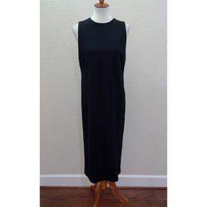 NWT T Tahari Midi LBD Black Dress Size Large
